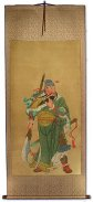 Warrior God Guan Gong - Partial-Print Wall Scroll