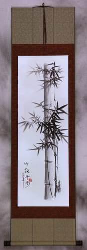 Charcoal Bamboo Wall Scroll