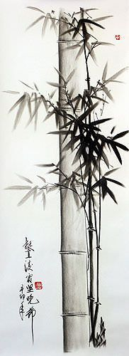 Charcoal Bamboo Portrait