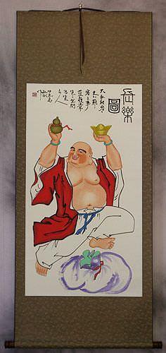 Happy Buddha Wall Scroll