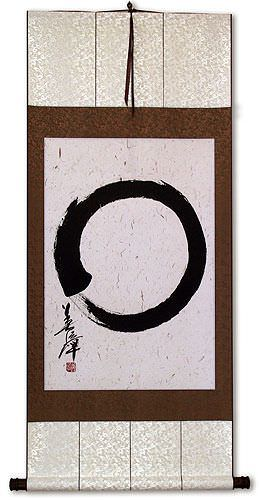 Large Enso Japanese Calligraphy Wall Scroll
