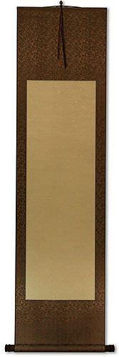 Blank Tan/Copper Asian Wall Scroll