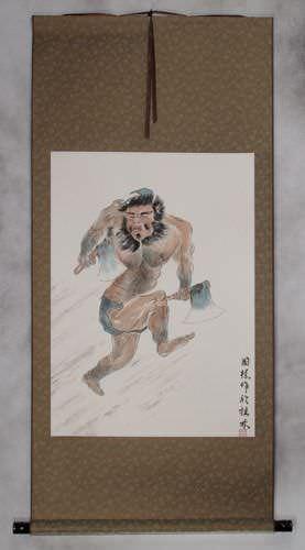 Ancient Chinese Warrior Li Kui - The Black Tornado - Wall Scroll