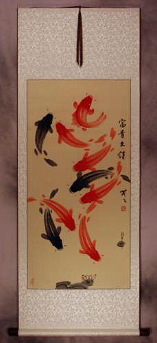 Classic Koi Fish Wall Scroll