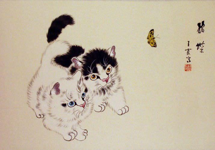 Kittens Painting