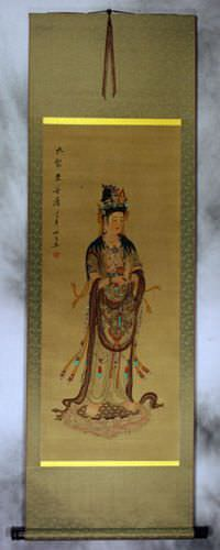 Image of Buddha - Partial-Print Wall Scroll