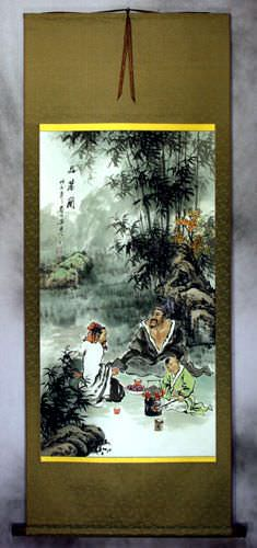 High Quality White Tea - Wall Scroll