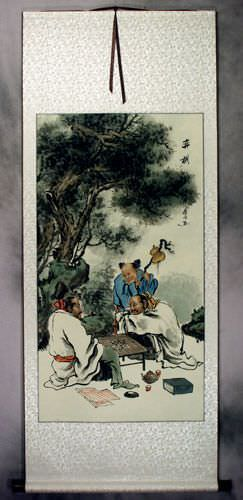 Chinese Weiqi Chess - Ancient Style Wall Scroll