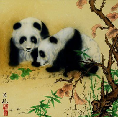 Chinese Panda Painting