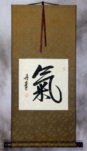 ENERGY - SPIRITUAL ESSENSE Chinese / Japanese Kanji Wall Scroll