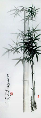 Charcoal Bamboo Portrait