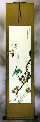 Bird Song - Chinese Wall Scroll