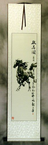 Chinese Excellent Steed Wall Scroll