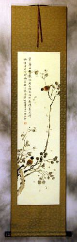 Freedom of Birds - Chinese Wall Scroll